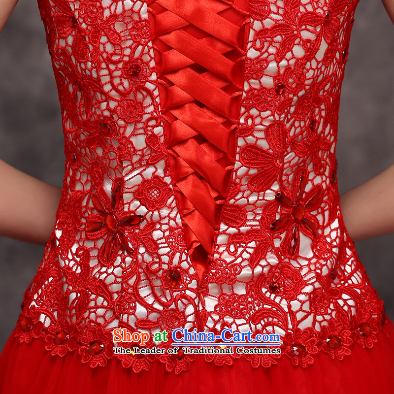 Jie mija bows Service Bridal Fashion 2014 new red marriage wedding dresses moderator evening dresses female long red XXL, Sau San Jie mia , , , shopping on the Internet