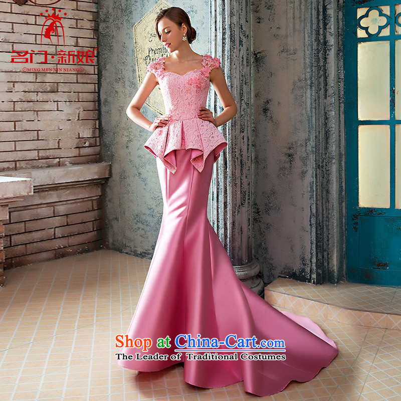 A Bride wedding dresses new 2015 winter evening dresses wedding dress elegant crowsfoot?420 S