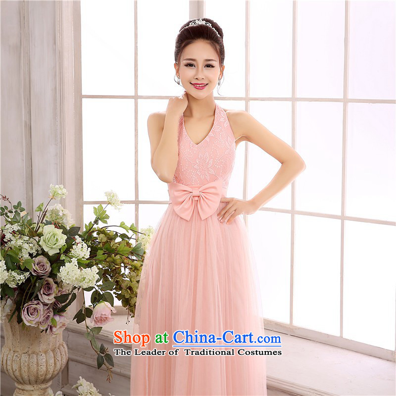C.o.d. Package Mail new soul-sin back charm shoulders hang also long skirt etiquette evening dresses annual small bridesmaid sister dresses slips long pink are code