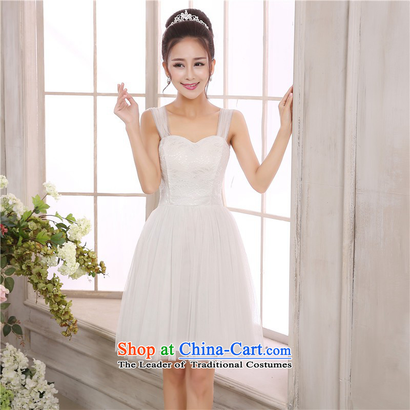 C.o.d. Package Mail New Korean lace strap long skirt large lei mesh wedding dresses skirt evening show short skirts and sisters annual bridesmaid dress short skirts are white code