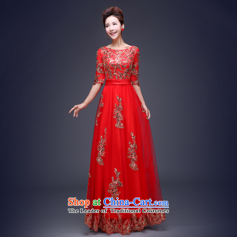Jie Mija Evening Dress Short, 2015 New wedding dresses red bows Service Bridal Fashion long betrothal festival long bows?XXXL services