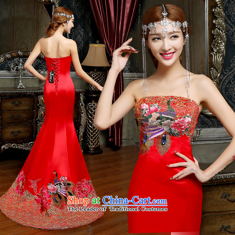 Noritsune Bridal?Fashion bows Services   2014 dress tail betrothal wedding dress wiping the chest crowsfoot bows serving evening dresses tailored services tail of bows?S