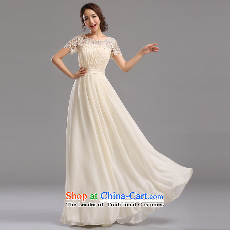 Jie mija bride evening dresses 2015 New Service bridesmaid dresses bows bridesmaid mission small dress skirt sister skirt long long?S