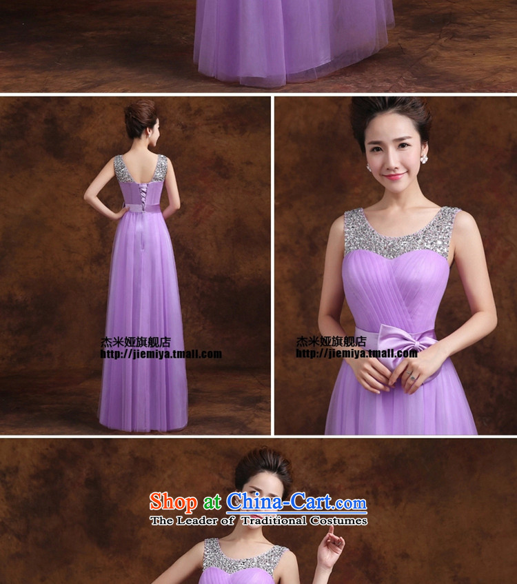 Jie mija bridesmaid service long 2015 new Korean purple shoulders bridesmaid mission then shoulder type straps sister skirt evening dressEXL Photo, prices, brand platters! The elections are supplied in the national character of distribution, so action, buy now enjoy more preferential! As soon as possible.