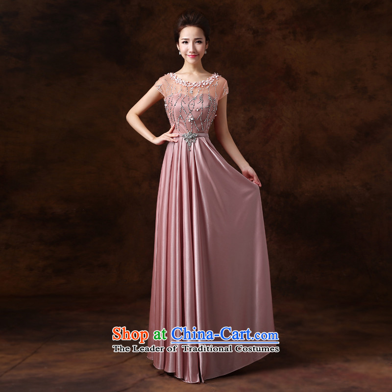 Jie mija evening dresses 2014 new Korean fashion shoulders diamond bridal services, long bows concert services usual zongzi winter color?XL