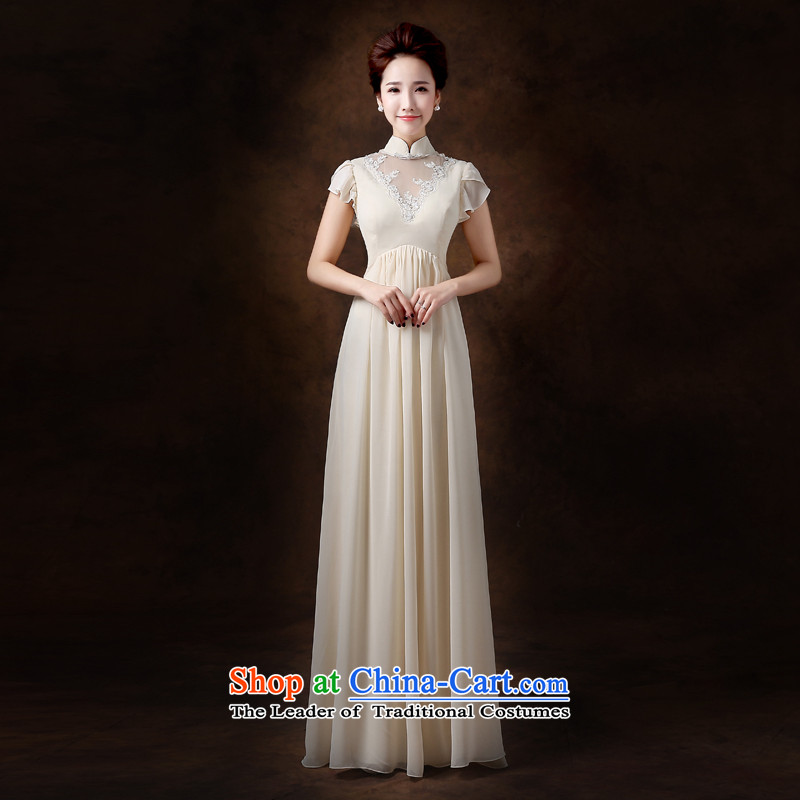 Jie mija bows Service Bridal Fashion 2015 new Korean pregnant women wedding dress Top Loin of evening dresses bridesmaid to female champagne color long?S