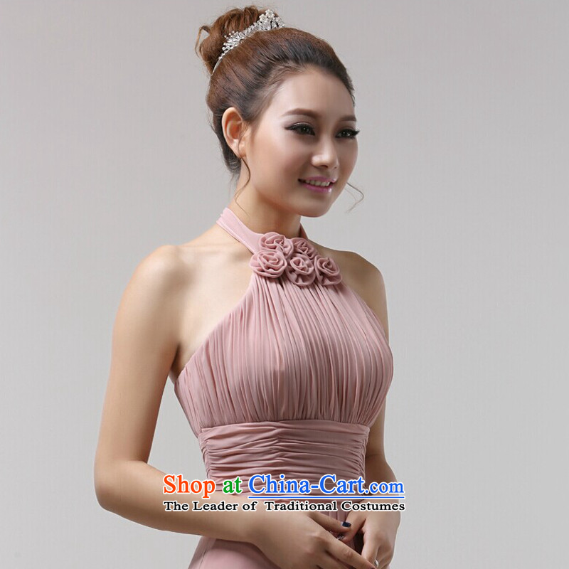 Jie mija bridesmaid dress bridesmaid services serving long fall arrester bows to the usual zongzi color evening dresses new women's evening drink service also hang flowers�M