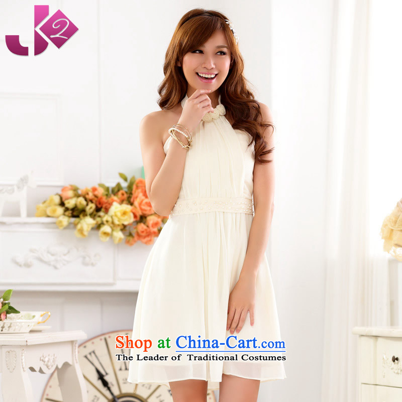 The spring and summer of 2015 New Jk2.yy, a staple pearl sweet chiffon dresses annual meeting under the auspices of evening dress code bridesmaid large number of champagne color involving the height and the weight ratio as the advisory service