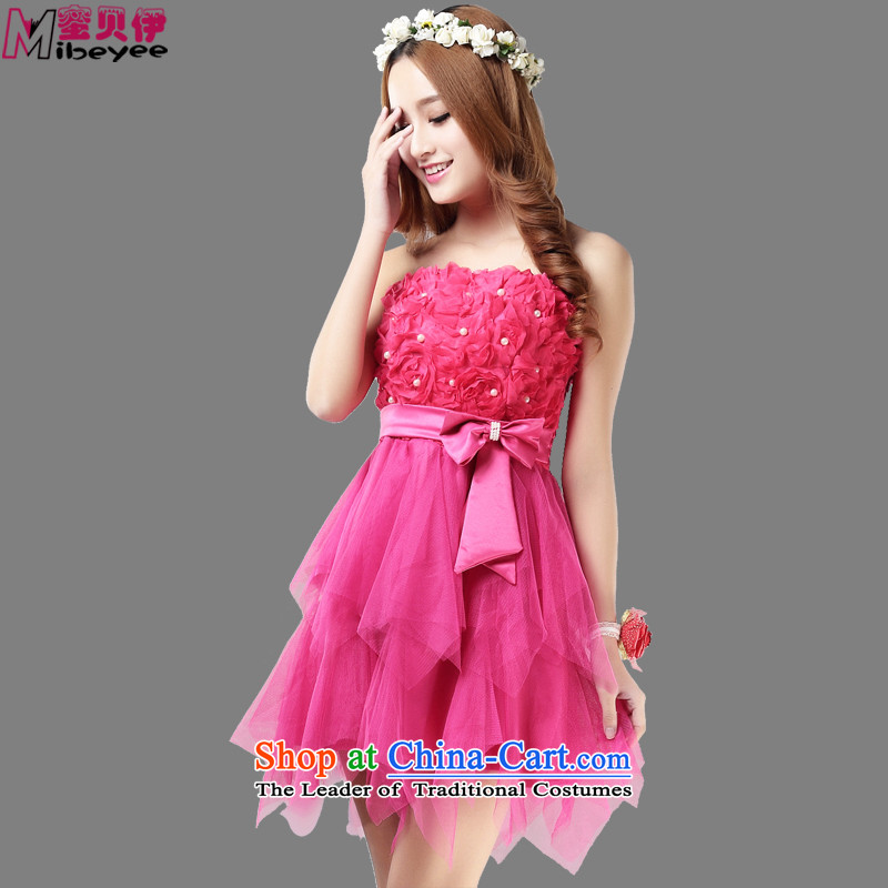 Honey Bej New Princess stereo chiffon flowers bow tie bows services evening dresses and skirt dress chest dresses princess skirt with Sister Rose