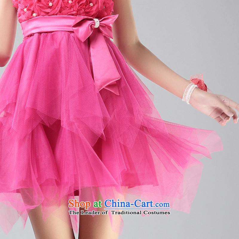 Honey Bej New Princess stereo chiffon flowers bow tie bows services evening dresses and skirt dress chest dresses princess skirt with sister rose, honey bay (mibeyee) , , , shopping on the Internet