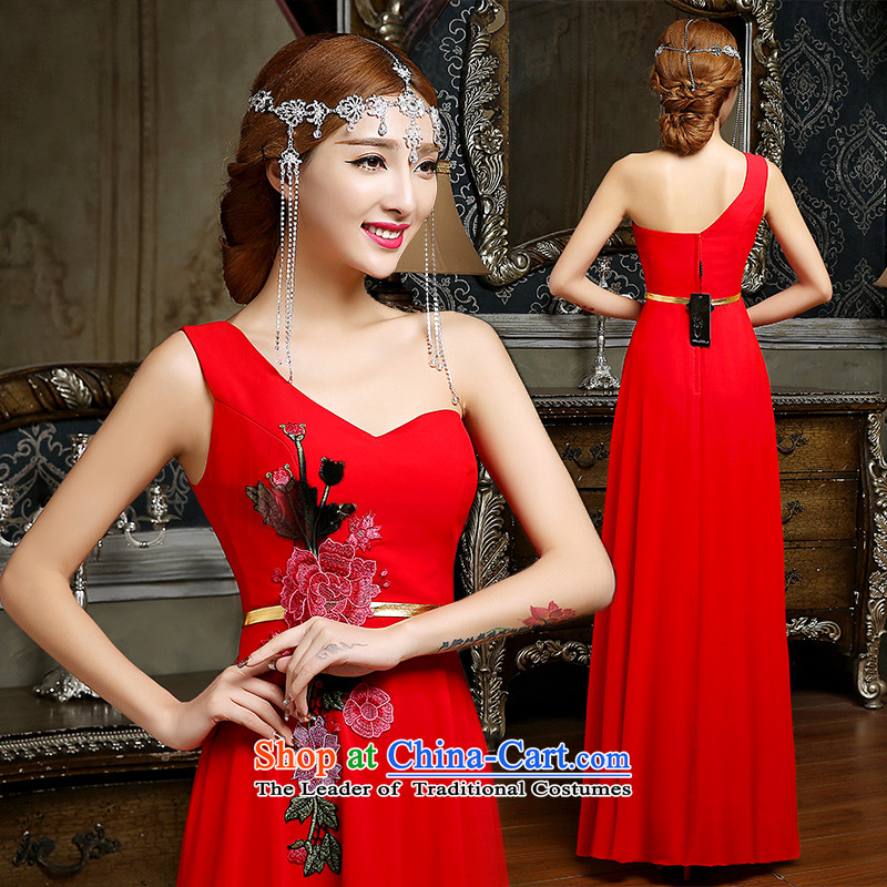 Noritsune Bride?Spring 2015 new red bows to married women of stylish dresses and chest evening dresses banquet hosted evening dress RED?M