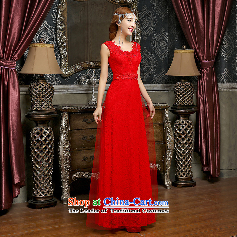 Noritsune bride?new spring of 2015 Field shoulder bows dress stylish Sau San video thin marriage long bows dress toasting champagne married bridal dresses RED?M