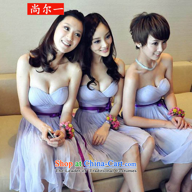 Yet, a 2015 wedding dresses bridesmaid dress new purple anointed chest dress?ys3749?purple?M