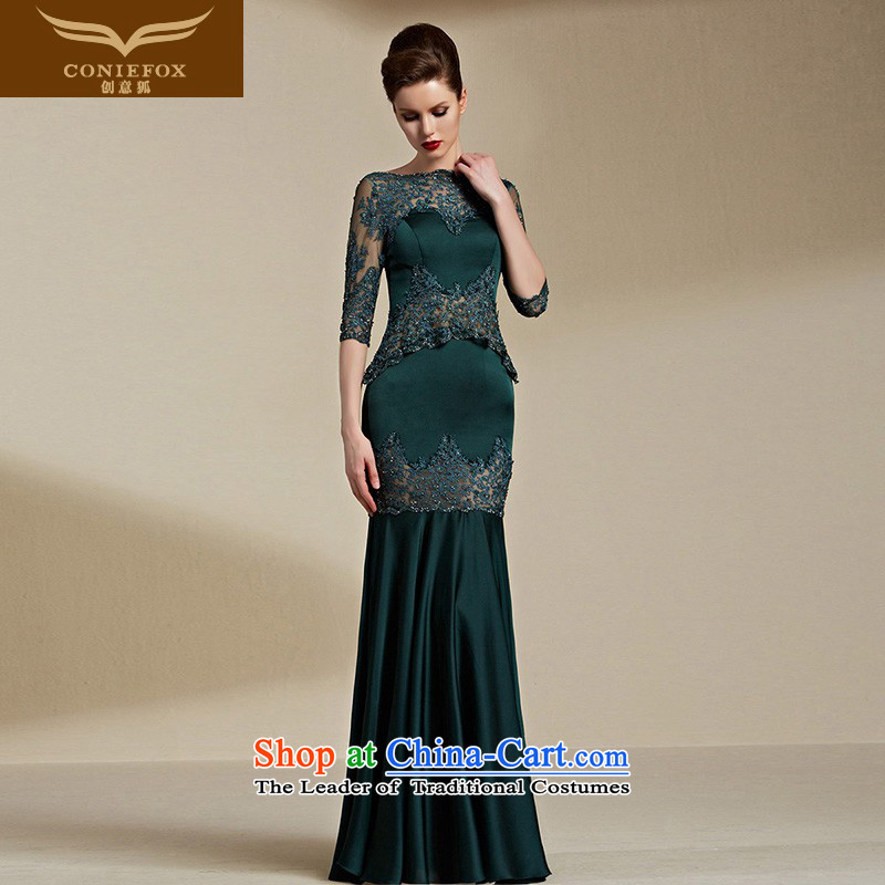 Creative Fox evening dresses?2015 New banquet evening dresses female long gown skirt bows her dress and Sau San evening dresses moderator female long skirt 82111 Green?M
