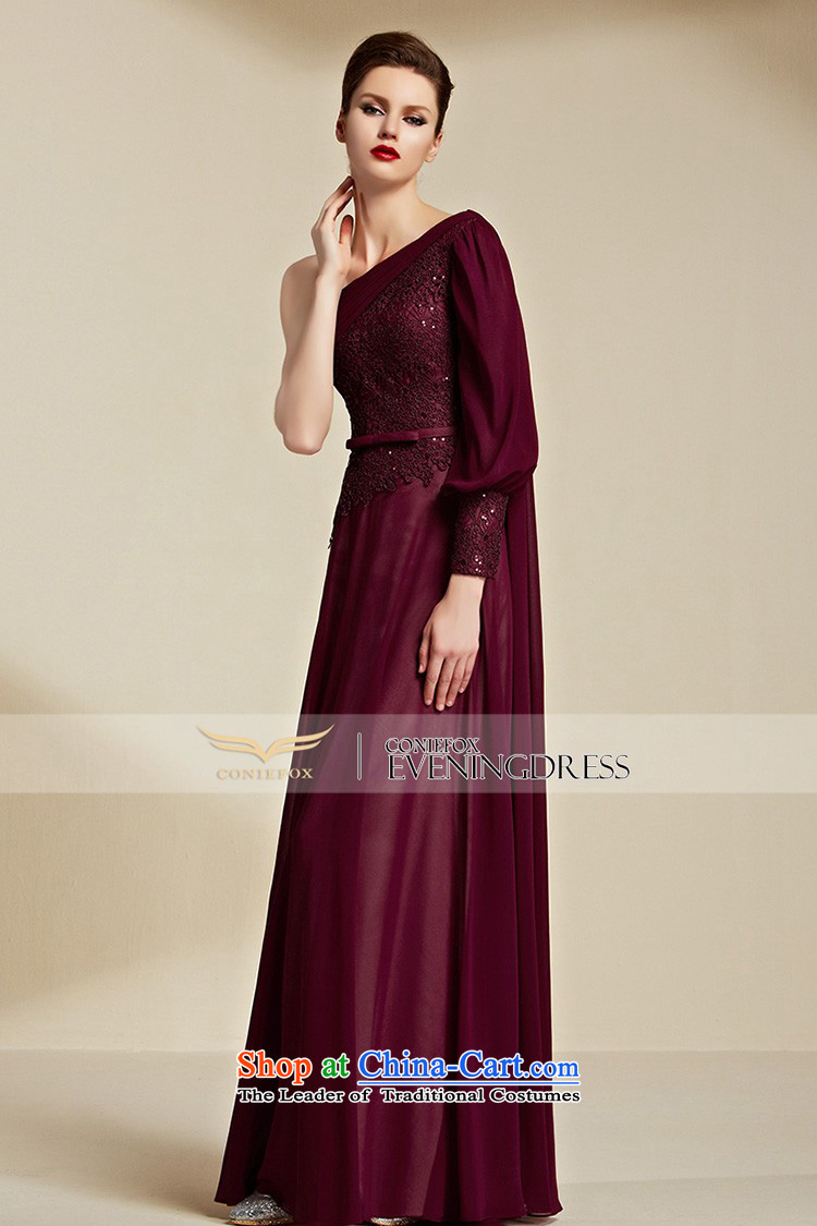 Creative Fox evening dresses 2015 New banquet long gown bridal wedding dress evening drink services shoulder bridesmaid dress long skirt 30850 aubergine L picture, prices, brand platters! The elections are supplied in the national character of distribution, so action, buy now enjoy more preferential! As soon as possible.