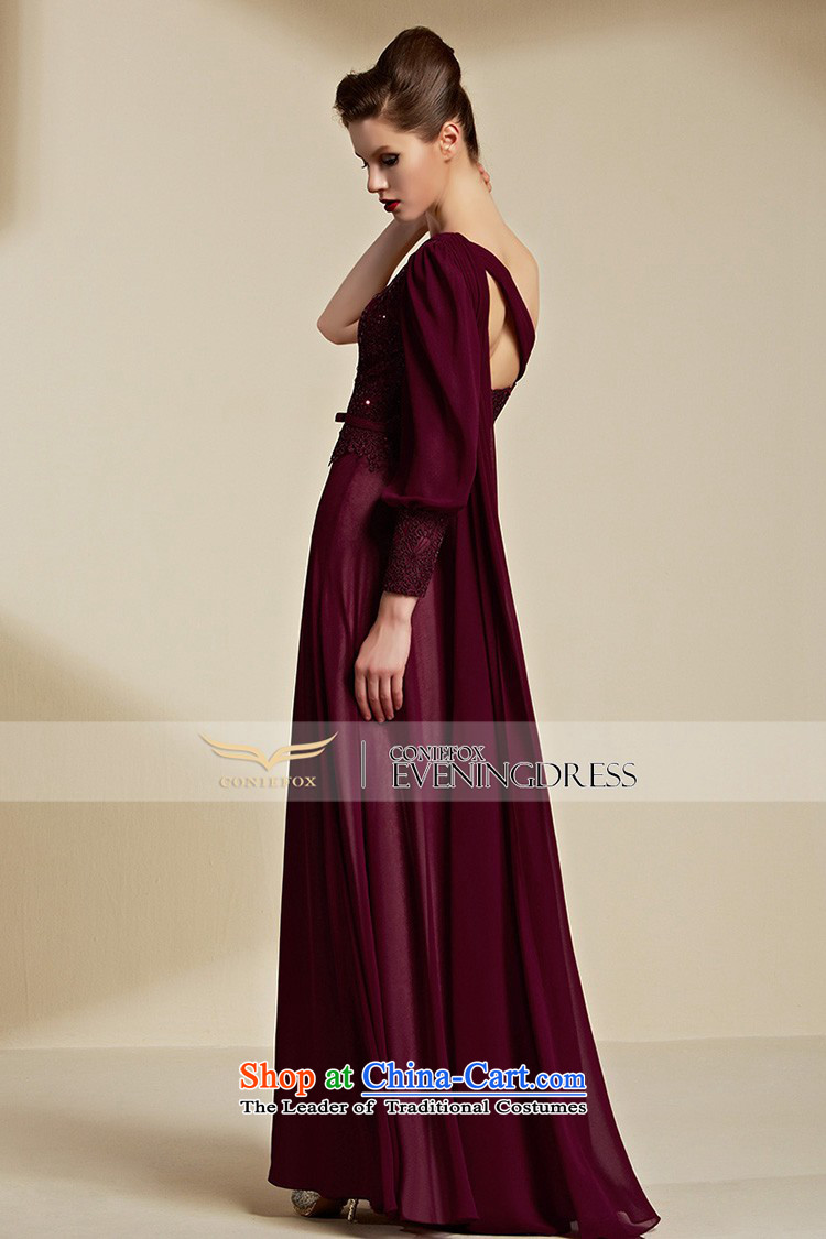 Creative Fox evening dresses聽2015 New banquet long gown bridal wedding dress evening drink services shoulder bridesmaid dress long skirt聽30850聽aubergine聽L picture, prices, brand platters! The elections are supplied in the national character of distribution, so action, buy now enjoy more preferential! As soon as possible.