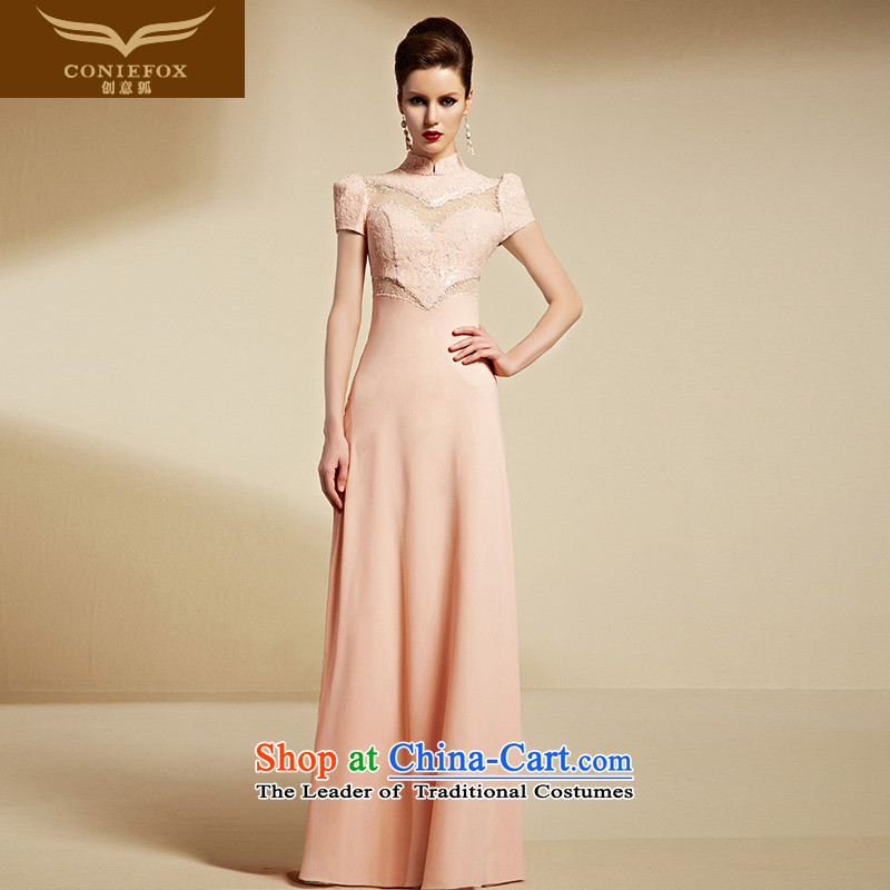 Creative Fox evening dresses?2015 new dresses long Sau San evening dress bridesmaid dress pink drink service annual meeting of persons chairing the dress 30811 rose?M
