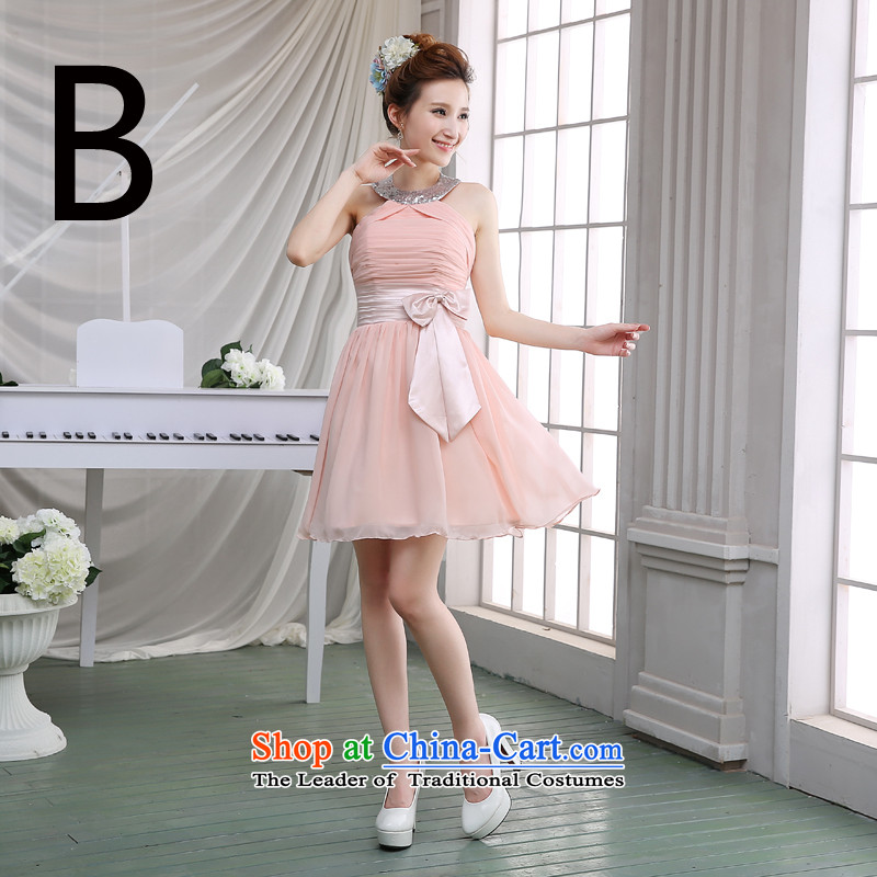 Jie mija bridesmaid services 2015 new wedding dresses Korean shoulders after the short duration of the former, sister skirt bridesmaid mission dress?B?S