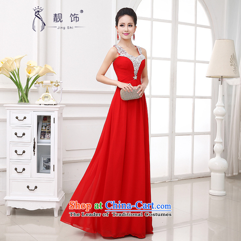 International evening dress talks 2015 new bride stylish red bows, married to serve both shoulders long dresses red dress to contact Customer Service
