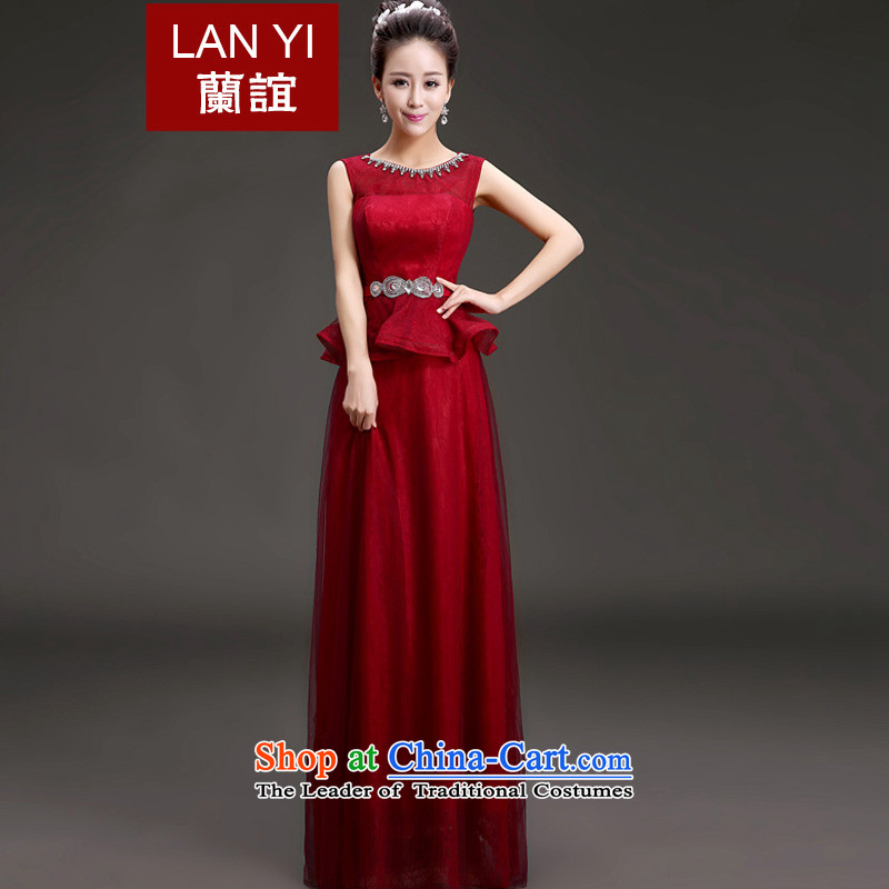In the�spring of 2015, Friends New evening dress the word shoulder graphics thin marriage bows services under the auspices of Korean performances banquet dresses, wine red quality assurance to contact customer service fee as the Supplement