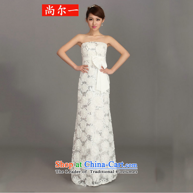 Naoji a bride 2015 wedding dress skirt long lace flowers to align the dress crowsfoot auspices dh3610 White?M services