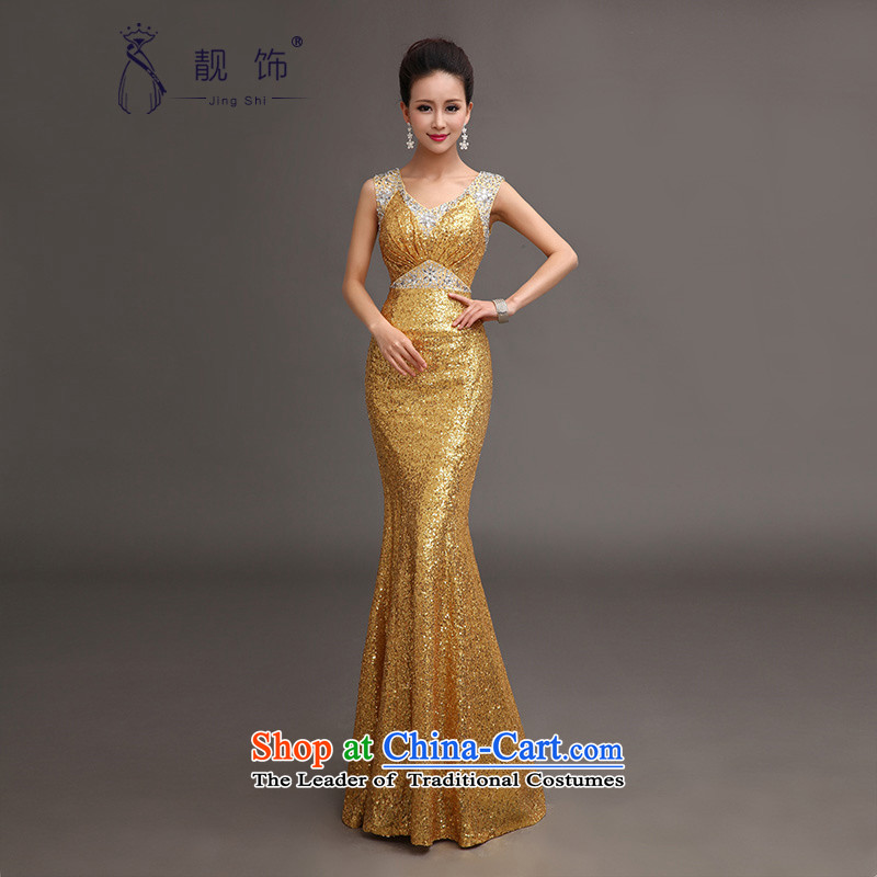 The talks with the new 2015 evening dresses on slice 4 luxury sexy shoulders crowsfoot dress moderator will make gold does not support replacement