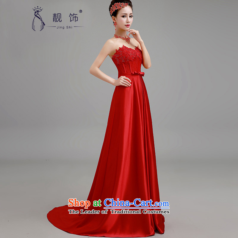 The new 2015 International Friendship wedding dresses red bows Service Bridal wedding dress long winter evening dress under the auspices of the Red Tail) Make contact customer service