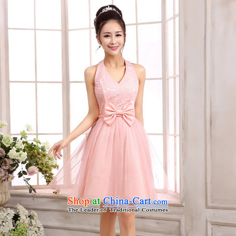C.o.d. aristocratic ladies shoulders small dress gauze bon bon dress wedding dress bridesmaid sister mission dress xl annual dresses pink slips short skirts are code