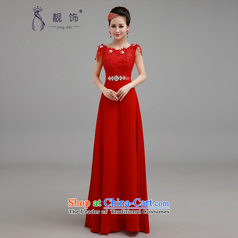 The new 2015 International Friendship wedding dresses red long gown marriages a shoulder dress field service bows red�S