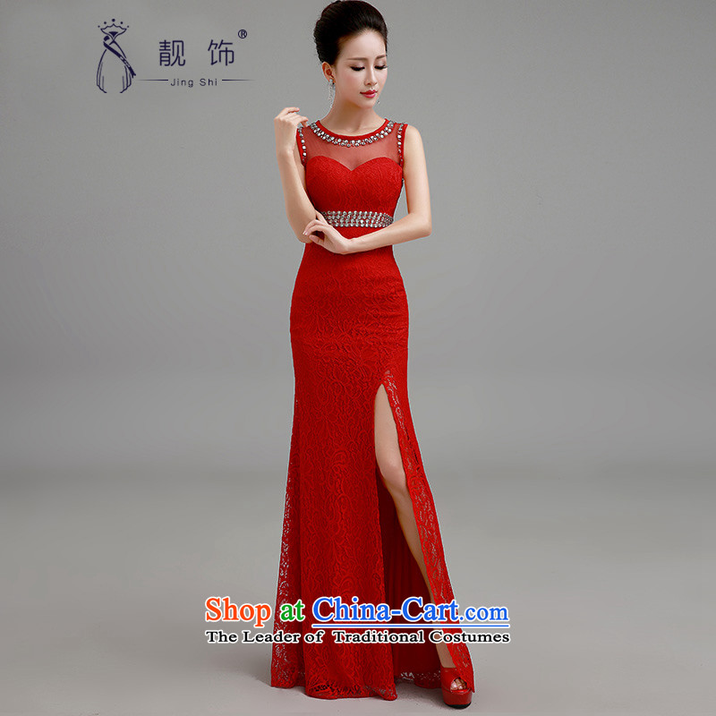 The new 2015 International Friendship wedding dresses long red dress marriages bows as the red service contact customer service