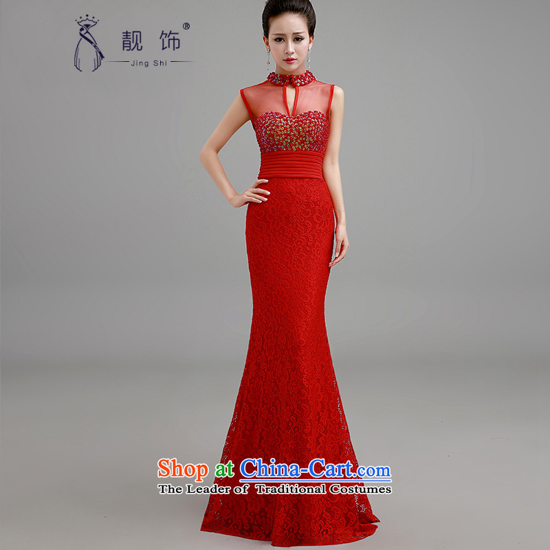 The new 2015 International Friendship wedding dresses long red dress marriages bows services under the auspices of evening dresses red dress�S