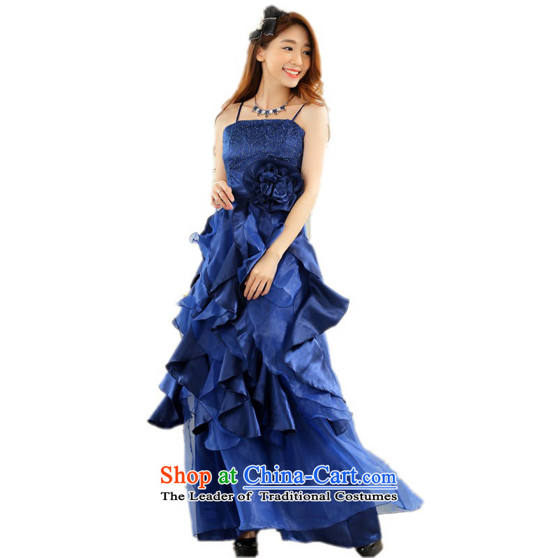 C.o.d. plus annual meeting under the auspices of her dress code hypertrophy show dresses slips long evening wedding bridesmaid skirt thick mm gathering dress long skirt?around 125-145 blue XL catty