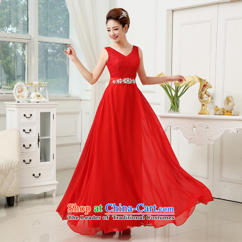 2015 new wedding dress shoulders sweet style in kind to take quality assurance best-selling popular dress red�S