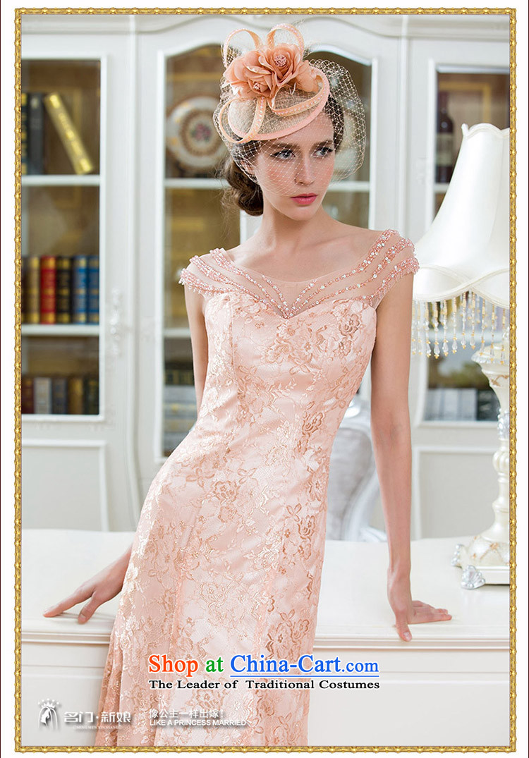 Name of the bride elegant known door dress small trailing dinner service handicraft embroidery lily silk Princess 2211 pink聽M picture, prices, brand platters! The elections are supplied in the national character of distribution, so action, buy now enjoy more preferential! As soon as possible.