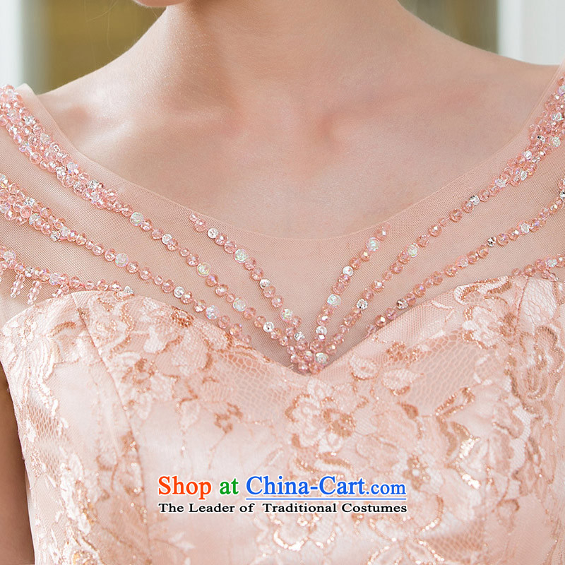 Name of the bride elegant known door dress small trailing dinner service handicraft embroidery Lily Princess 2211聽M, pink wire from a bride shopping on the Internet has been pressed.