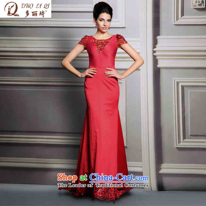 Doris Qi Red drag to wedding dress Bridal Services pictures transmitted color�L