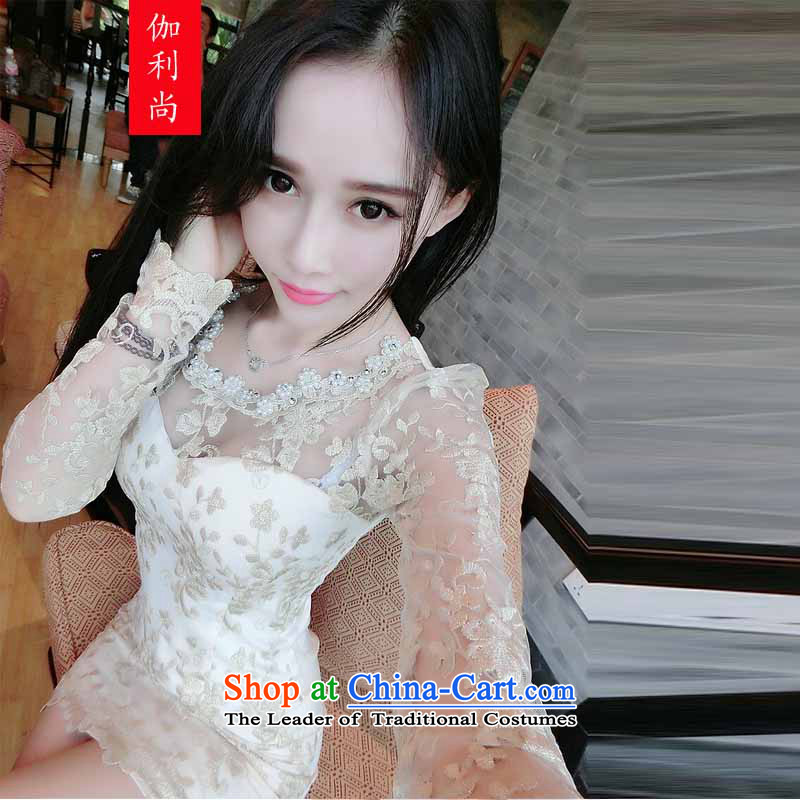 Yet, 2015 autumn and winter new bow tie wrap engraving chest skirt nail Pearl Diamond Night package and sexy beauty dresses dress?8679 skirt?picture color?M