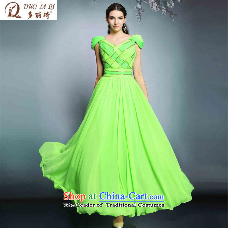 Doris Qi evening dresses long elegant daily gathering dress bridesmaid dress pictures marriage color?M