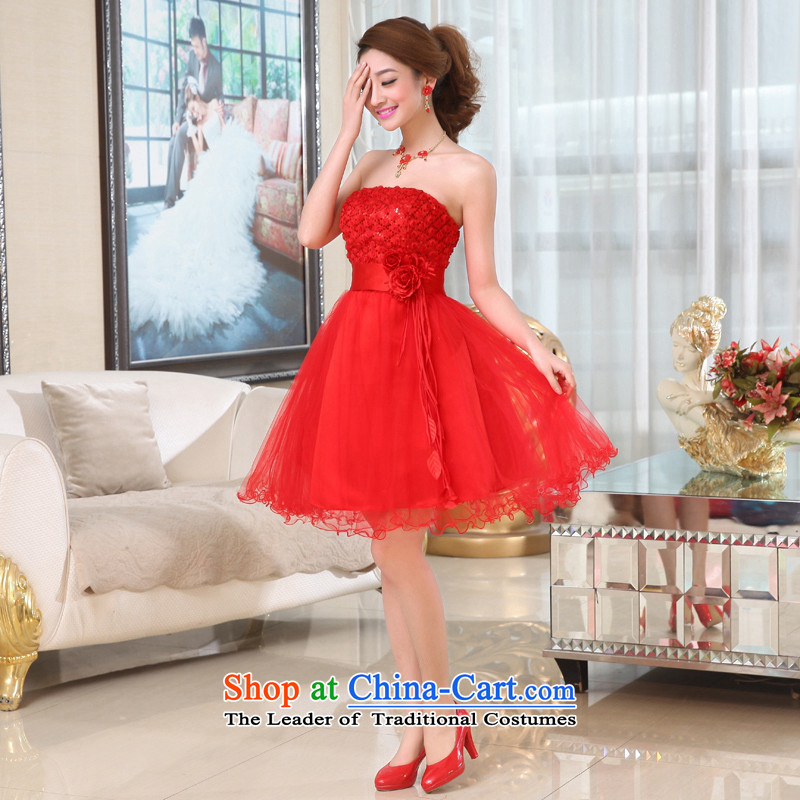 Kaki-hi-won The Princess Bride flowers anointed chest wedding dresses bridesmaid to serve the new 2015 autumn and winter X003 Red聽, L-hi kaki shopping on the Internet has been pressed.