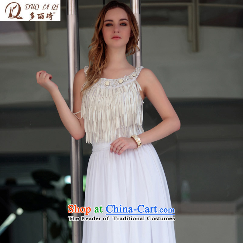 Doris Qi foreign trade dress marriage banquet dress western bridal dresses White?M dress