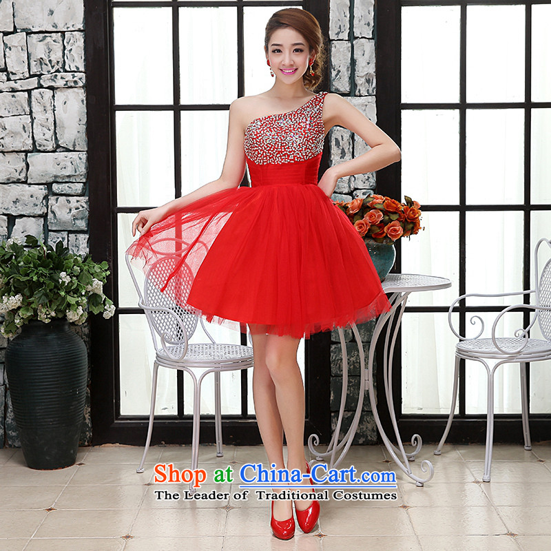 Kaki-hi-won The Princess Bride sexy elegant wedding dresses bridesmaid to serve the new 2015 autumn and winter X013 RED聽L
