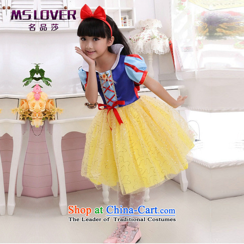 Mslover?fairy tale snow white short-sleeved Princess Royal Children dance performances to skirt dress Flower Girls skirt?on-chip?12-FD130601 code (3-7 day shipping.)