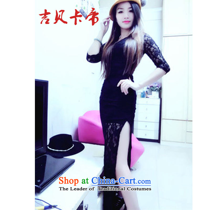 Gibez Card 8676 Dili real concept divorce lawyers focus with Yim Yim black lace skirt long skirt black?M