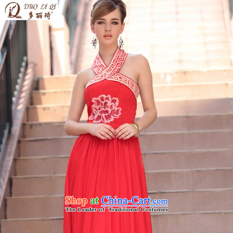 Doris Qi red wall also bride evening dresses bridesmaid Zhanghua, western dress bows 30623 Red?XXL