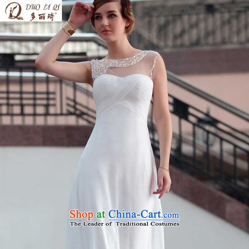 Doris Qi wedding dresses white wedding dress banquet dress evening dresses 30626 White?XL