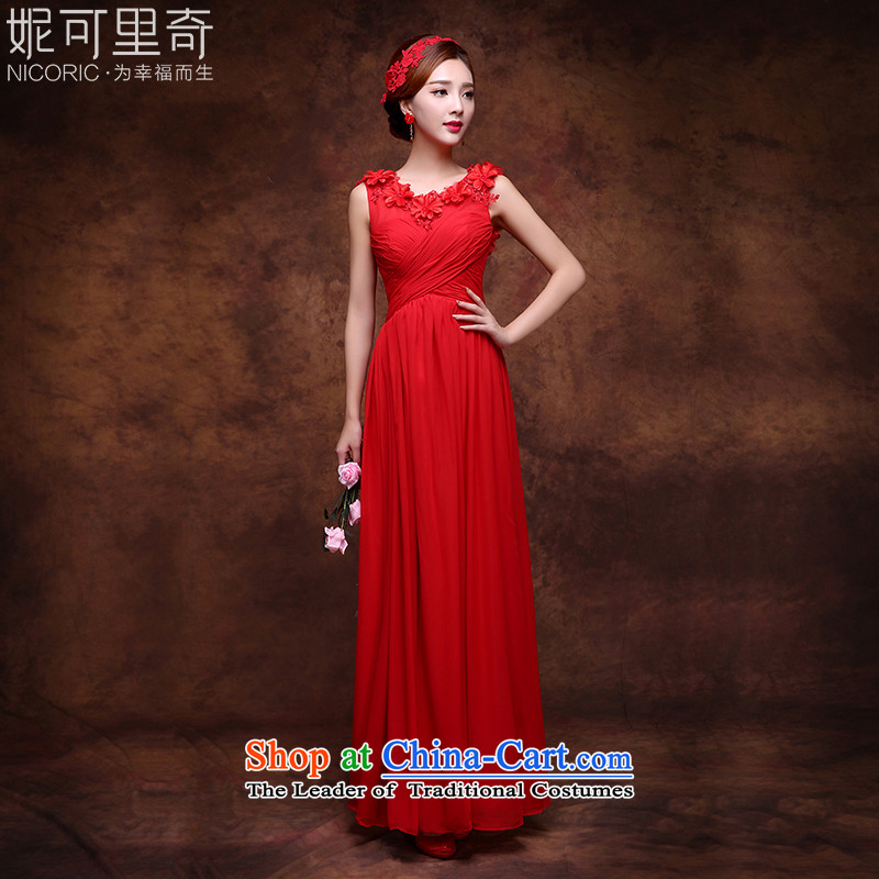 However Service 2015 winter red long gown marriages bows service banquet evening dresses red?XXL( video thin dress)