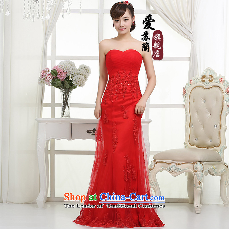 The bride wedding dresses Marriage won) dress red dress marriages wedding dresses Sau San crowsfoot dress red?S