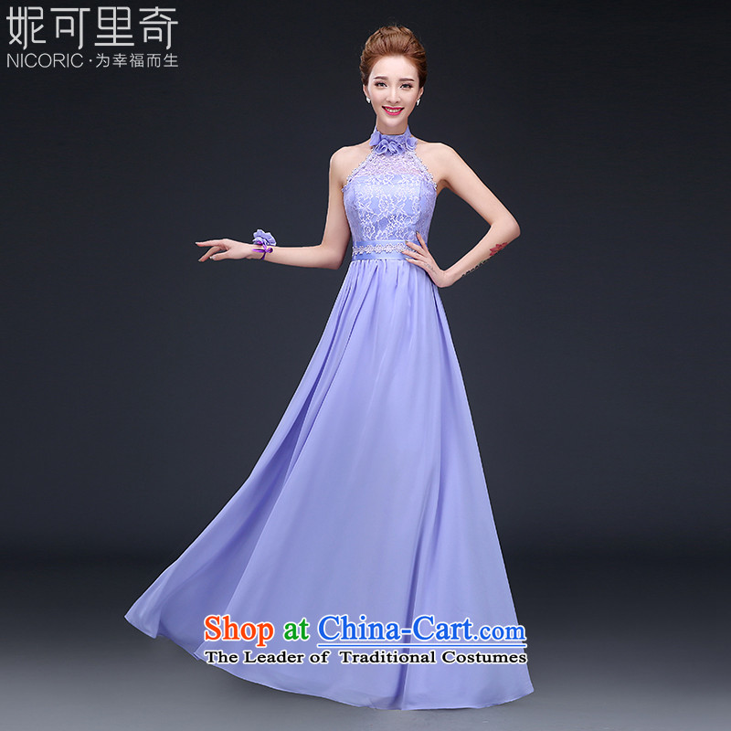 Winter bridesmaid services 2015 new dresses long bridesmaid mission sister annual banquet dress skirt will T14011-4 E M standard codes 3 day shipping)