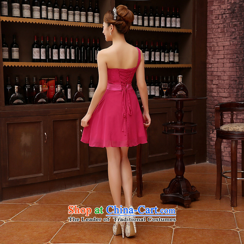 2015 new sister bridesmaid mission bridesmaid dress lace anointed chest bow ties small dress evening dress Korean RedXL, Charlene Choi spirit has been pressed shopping on the Internet