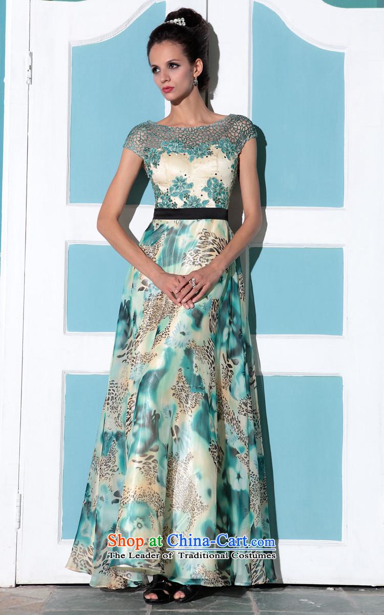 Doris Qi shoulders leopard evening dresses banquet company annual ...